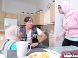 Big Tits Arab Pornstars Mia Khalifa and Julianna Vega Fuck Big Dick White D05:04