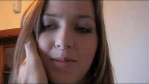 Young girl does first creampie in casting