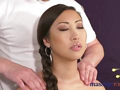 Massage Rooms Big natural tits Asian beauty has squirting