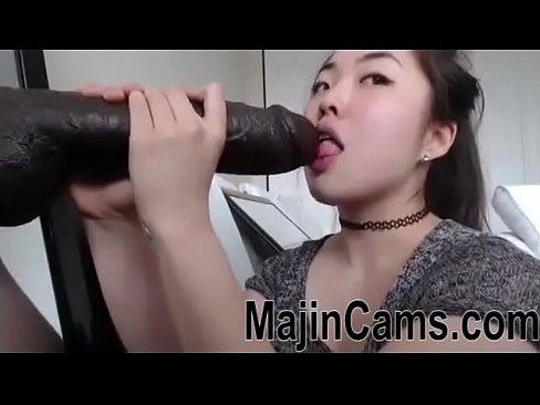 Asian Cam Gagging on BBC Dildo – MAJINCAMS.COM