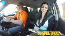 Fake Driving School busty examiner passes excitable young man on his test – 10:01- {rate}