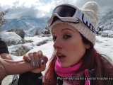 Spanish sex with a Tinder teen girl in the snow – Made in Canarias