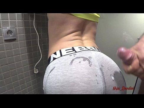 PUBLIC SEX – HORNY FIT TEEN WANTS CUM ON YOGA PANTS. Mia Bandini