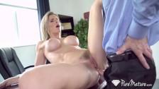 PUREMATURE Round booty secretary MILF Cory Chase anal FUCKED