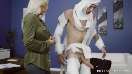 Rachel Roxxx has fun at the office costume party Brazzers