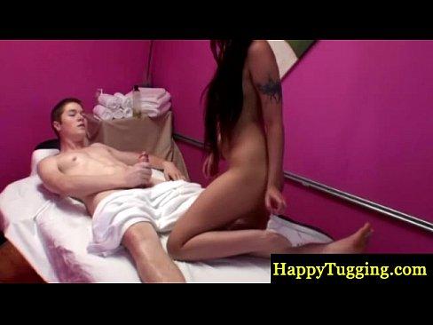 Asian masseur fucks and sucks her client