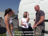 Takevan – Lost crazy girl in parking lot want fuck for a ride