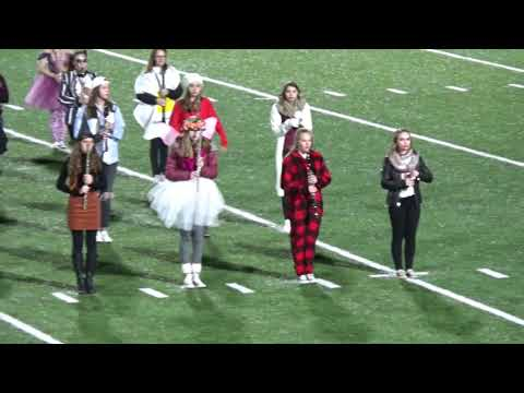 South Range Marching Band, halftime show vs. St. Clairsville, 10/19/18