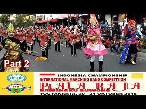 Marching Band Piala Raja 2018 Street Parade | Part 2 | Malioboro Yogyakarta 20 Okt 2018
