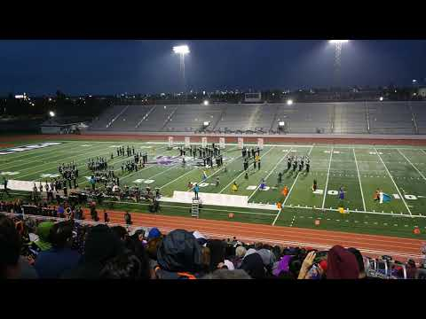 Donna North High School Rising Chief Marching Band at Pigskin Competition 2018