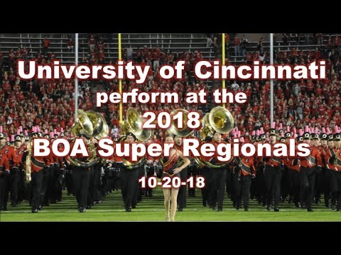 UC Marching Band at BOA Super Regionals 10-20-18