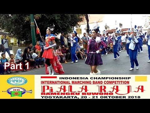 Marching Band Piala Raja 2018 Street Parade | Part 1 | Malioboro Yogyakarta, 20 Okt 2018
