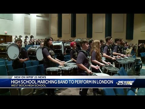 High school marching band to perform in London