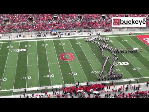 "Ohio State Marching Band ""Michael Jackson Tribute"" – Halftime vs. Iowa: 10-19-13"