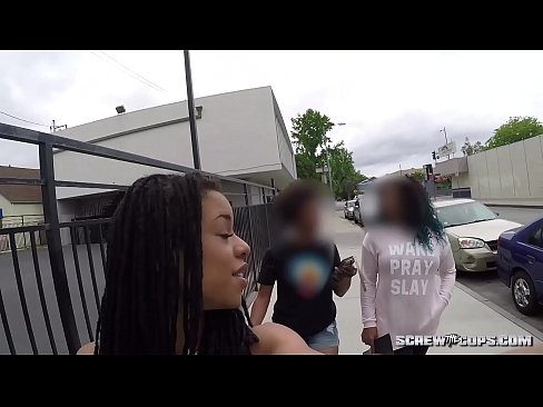 CAUGHT! Black girl gets busted sucking off a cop during rally!