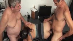 Oldman daddy threesome with the secretary